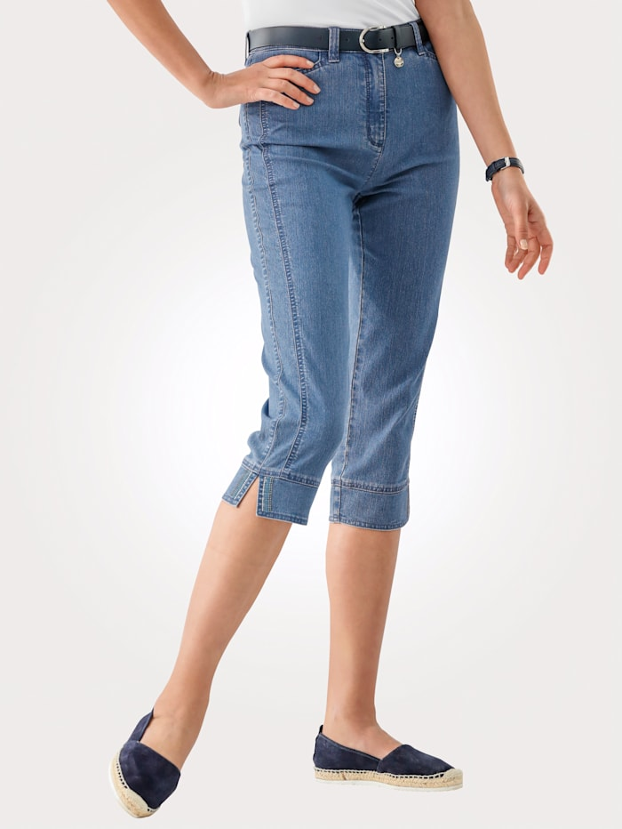 Toni Cropped trousers with seam detailing, Blue