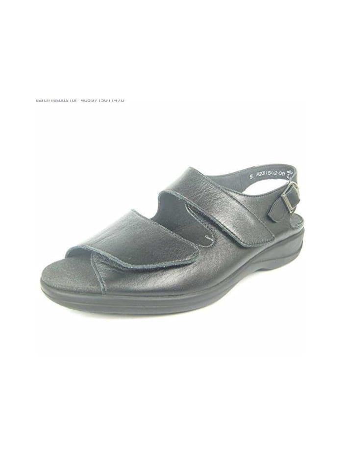 Solidus Damen Sandale in schwarz, schwarz