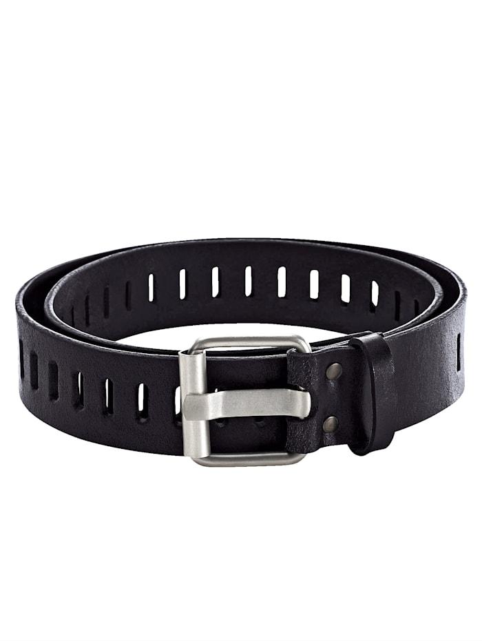 BABISTA Skinnskärp med utstansat mönster, svart