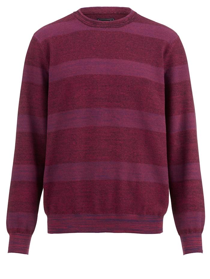 Men Plus Pullover leichte Strick-Qualität, Rot/Hellblau/Marineblau