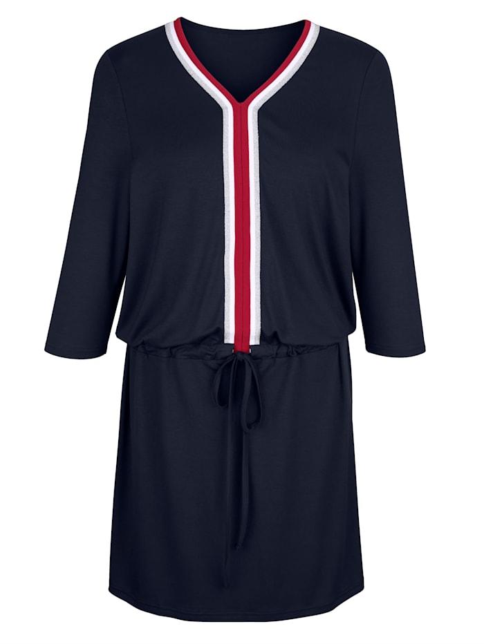 Kleid mit Tunnelzug und Bindeband