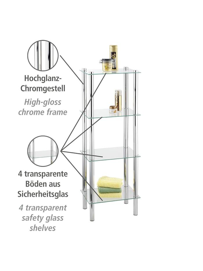 Regal Yago viereckig mit 4 Glasablagen