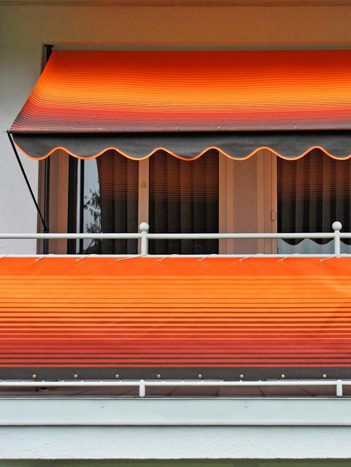 Angerer Luxus Klemmmarkise 250 cm mit Volant-Abschluss, Orange