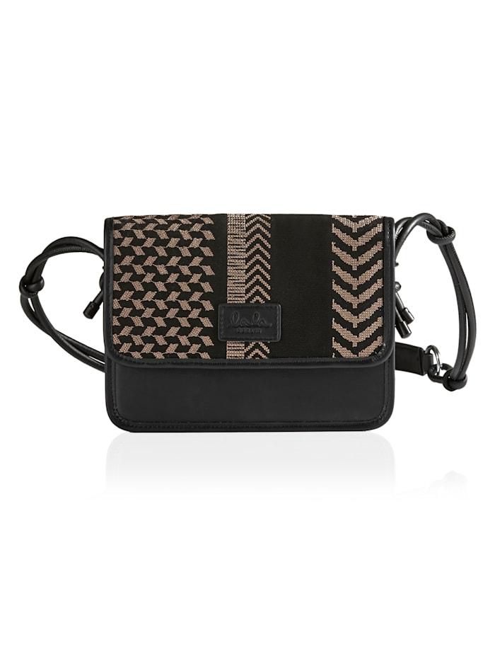 Lala Berlin Crossbody-Bag, schwarz-braun