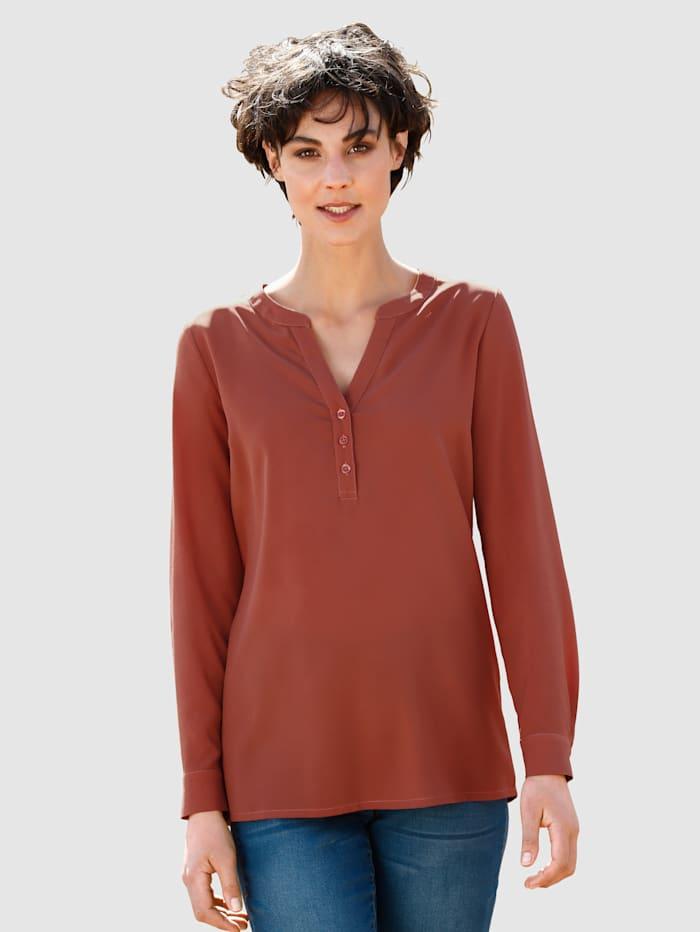 Dress In Bluse in fließender Qualität, Rost