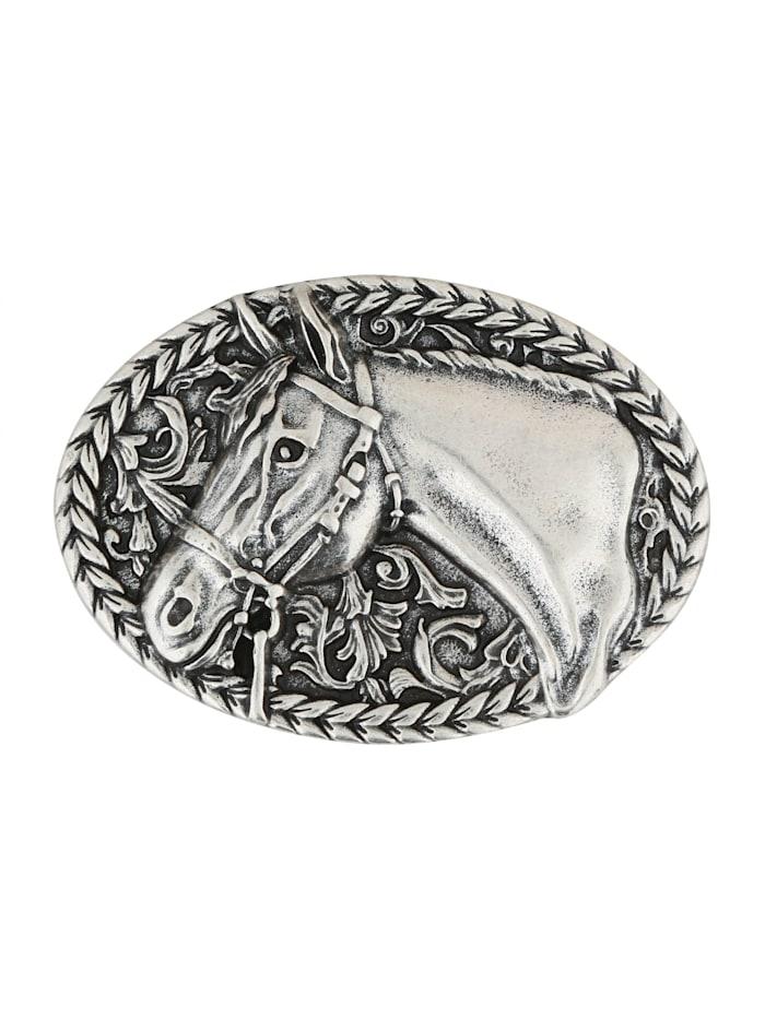 RETTUNGSRING by Showroom 019° Wechselschließe Pferdekopf in ovaler Form, silber