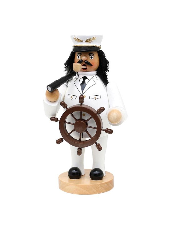 Sigro Holz Räucherfigur Schiffskapitän, Weiß