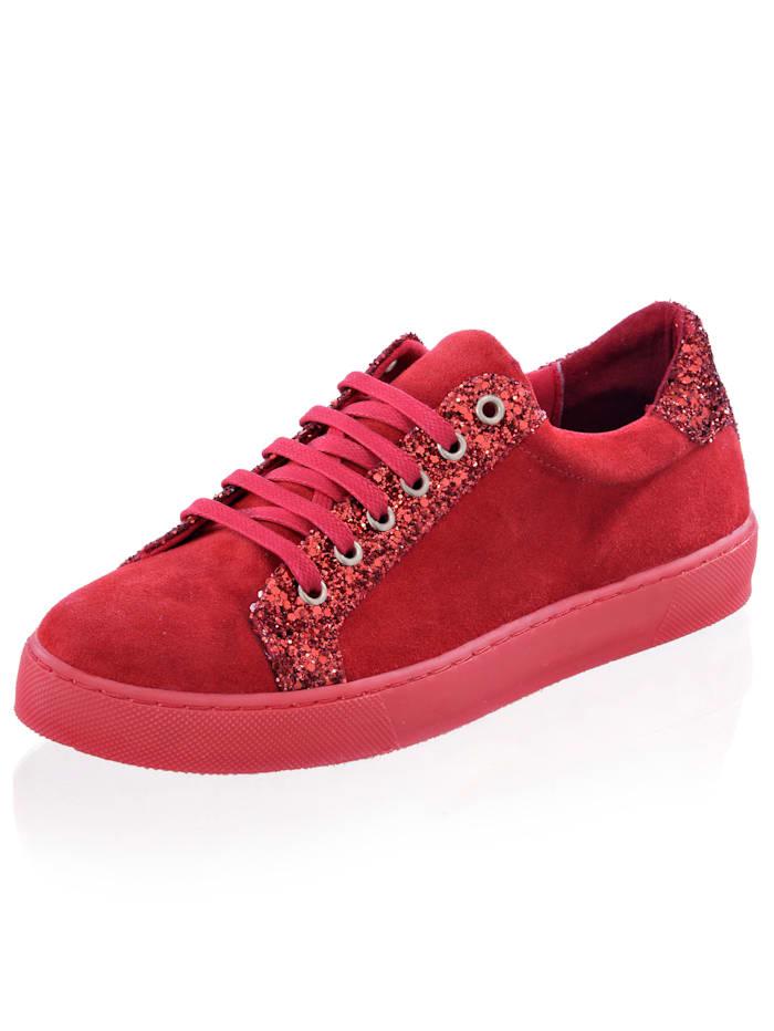 Alba Moda Sneaker mit Glitzerbesatz, Rot