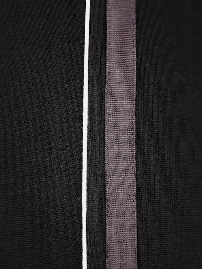 Pantalon en jersey à rayures décoratives