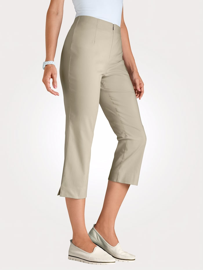 MONA Pull-on trousers made from a comfortable cotton blend, Sand