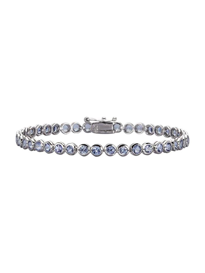 Bracelet avec tansanite, Bleu