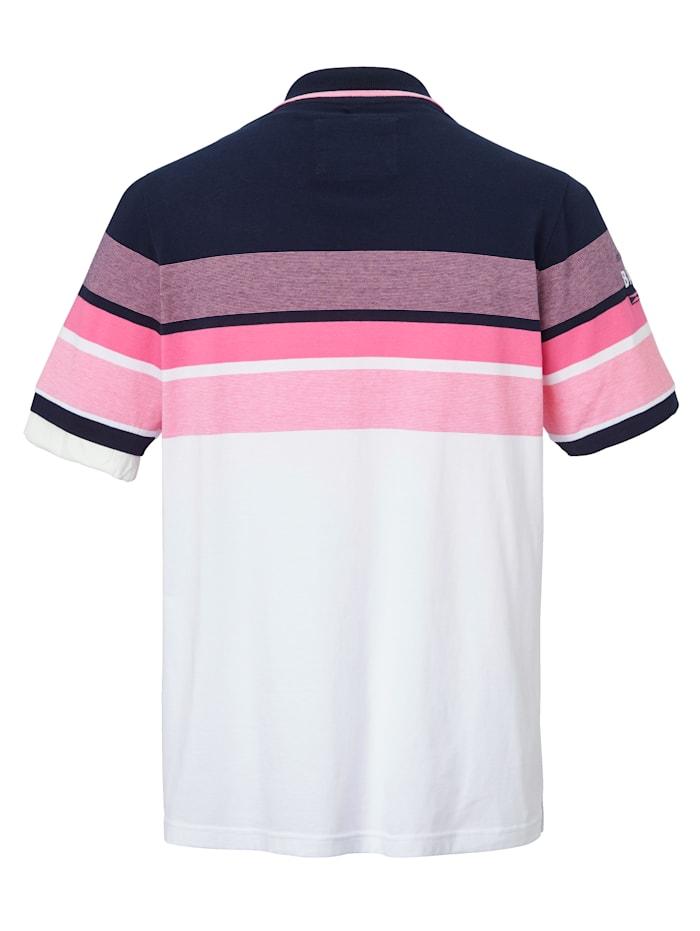 Poloshirt met print en borduursel