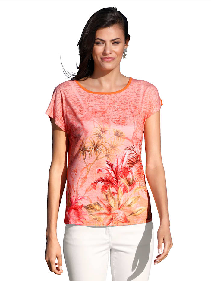 AMY VERMONT Shirt mit Druck, Orange