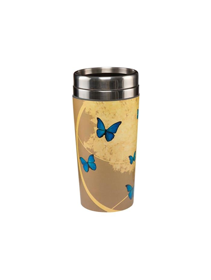 "Goebel Goebel Mug To Go Joanna Charlotte - ""Blue Butterflies"", Bunt"