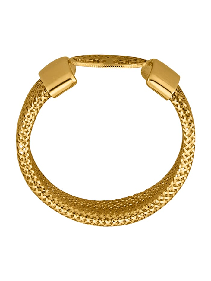 Mesh-Ring in Gelbgold 375