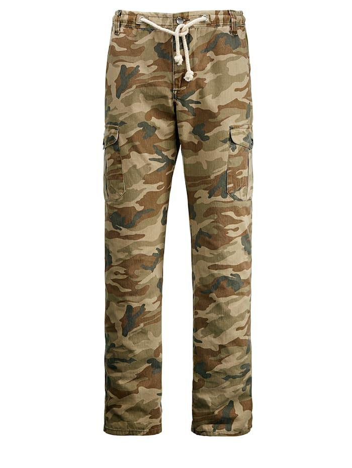 Men Plus Cargohose Camouflage, Beige/Braun