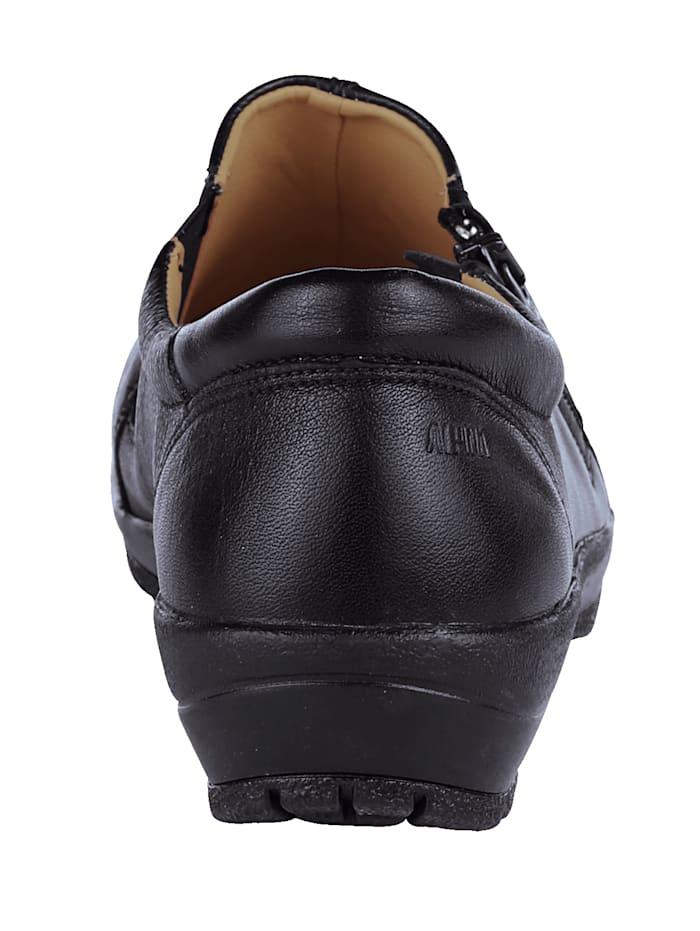 Breda skor med resår och dragkedja