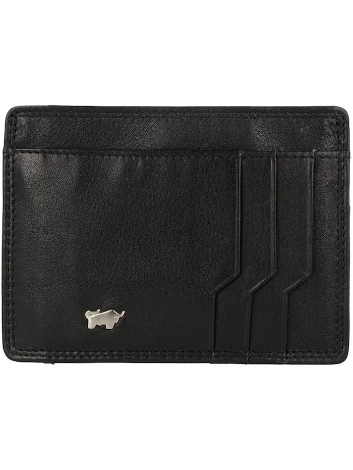 Braun Büffel Golf Secure Kreditkartenetui RFID Leder 11 cm, schwarz