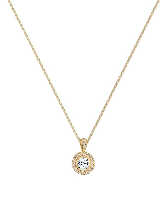 Halskette Blüte Kristalle 925 Sterling Silber