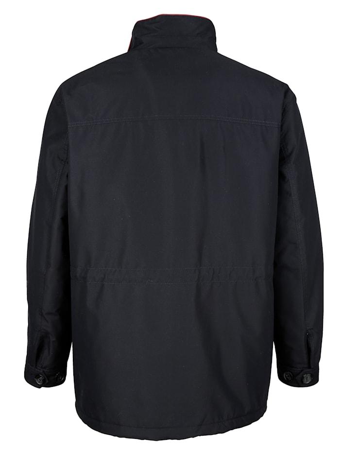 Bunda s kontrastným šitím