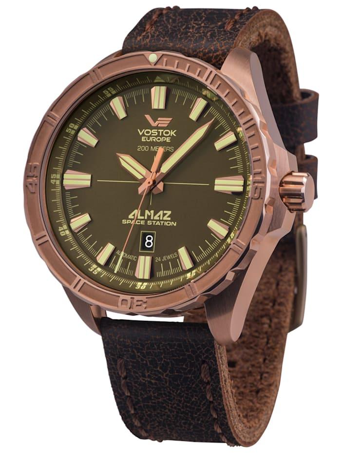 Vostok Europe Herren-Automatikuhr Almaz Bronze, Braun