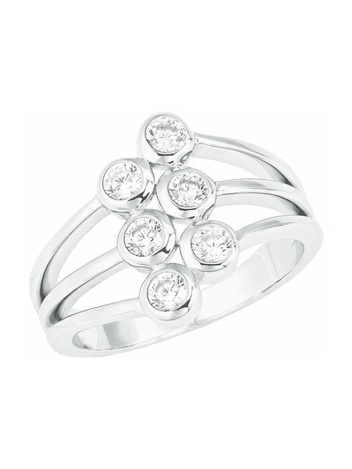 s.Oliver Ring für Damen, Sterling Silber 925, Zirkonia, Weiß