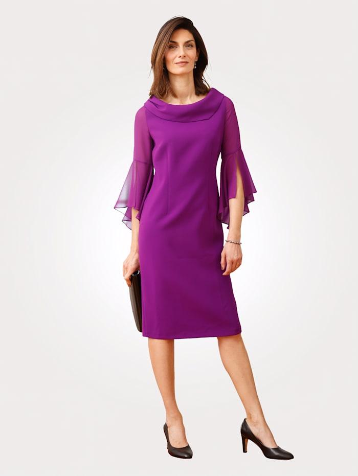 MONA Kleid mit Chiffoneinsatz, Violett