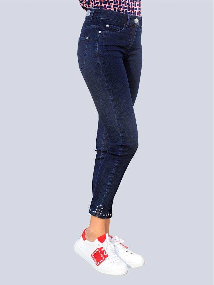 Alba Moda Jeans mit Nietenzier, Dunkelblau