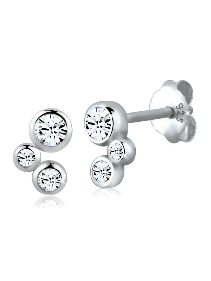 Elli Ohrringe Basic Kristalle Filigran 925 Silber, Weiß