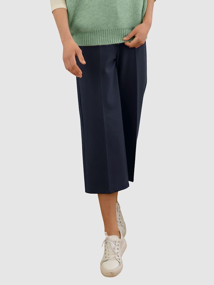 Dress In Culotte mit Bügelfalte, Marineblau