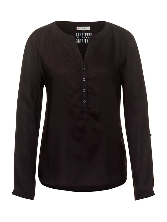 Street One Bluse mit Muster, burnt sienna red