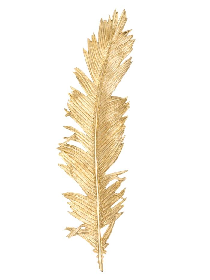 IMPRESSIONEN living XL wanddecoratie Veer, goudkleur