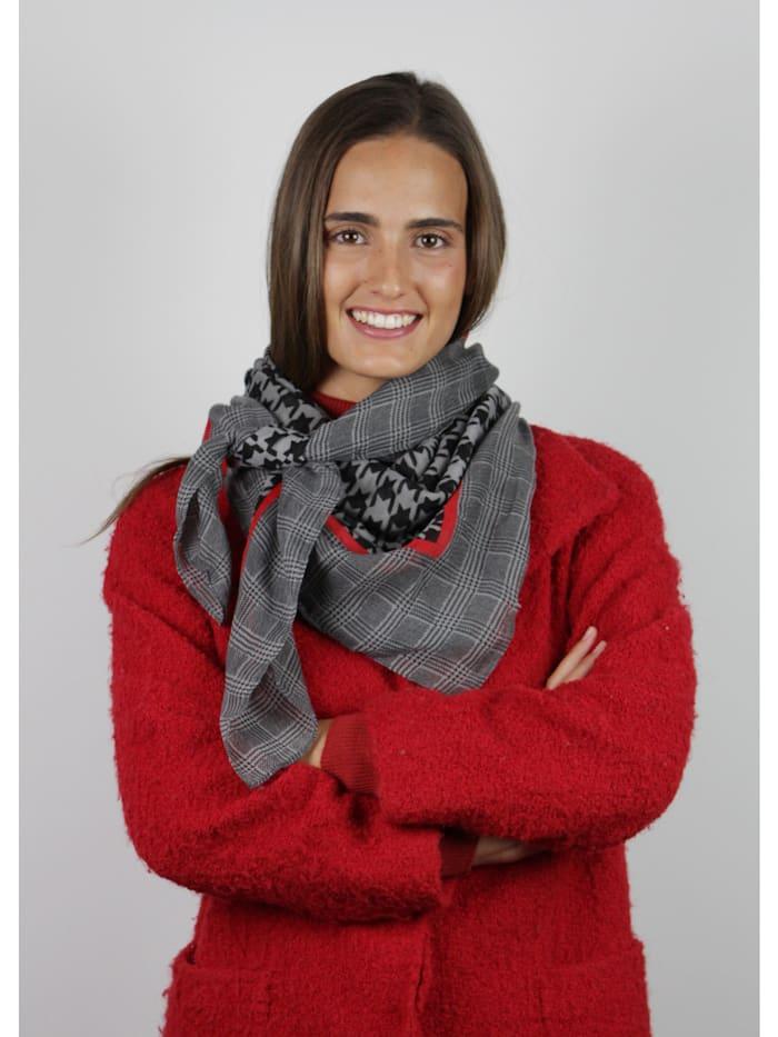 XL-Tuch mit Hahnentritt-Muster aus recyceltem Polyester