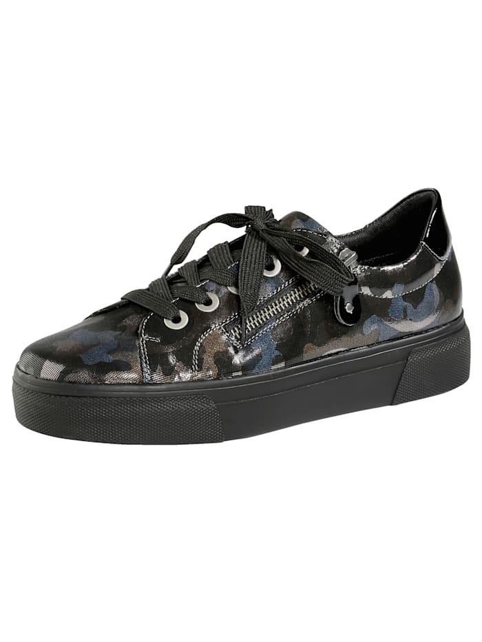 Remonte Sneaker met trendy camouflageprint, Zwart