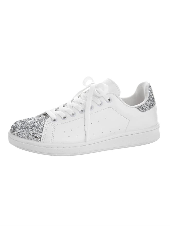 KLiNGEL Sneaker met glitter, Wit