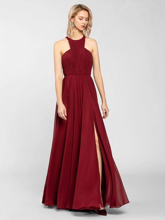 APART Abendkleid aus leicht körnigem Chiffon, bordeaux
