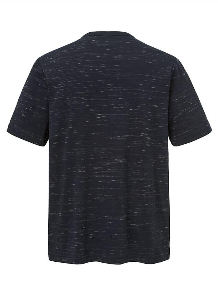 Henleyshirt in Flammgarn-Optik