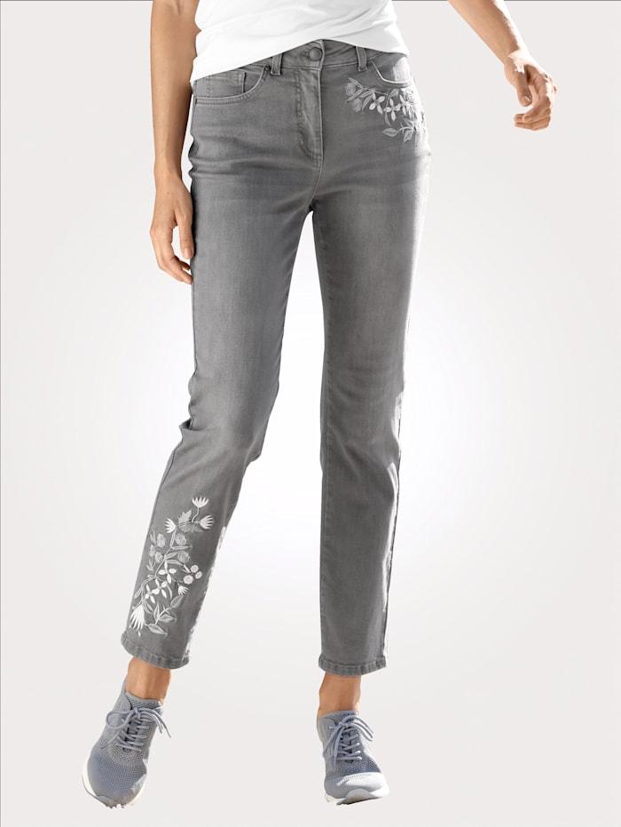 MONA Jeans in modischer Waschung, Grau