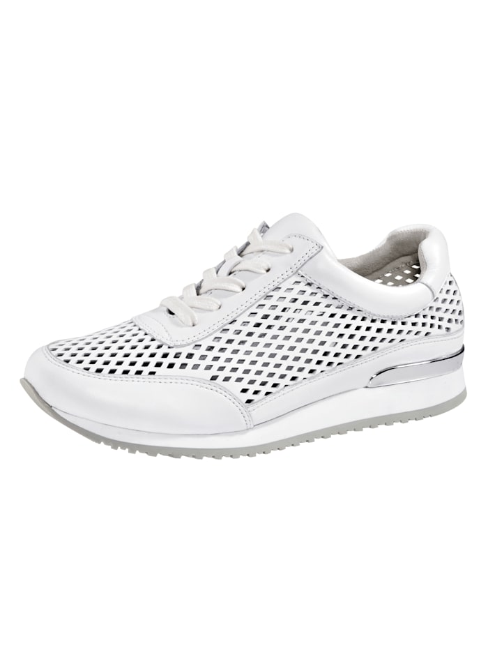 MONA Lace-up shoes in a breathable design, White