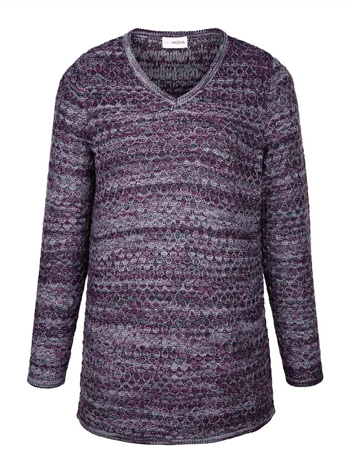 Pullover aus effektvollem Melangegarn