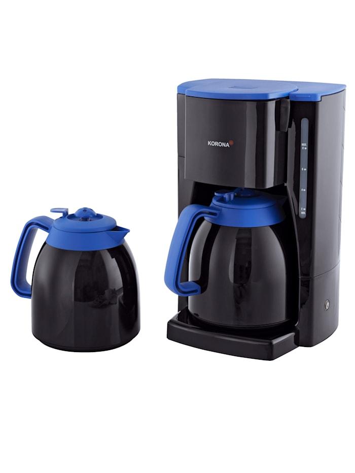 Korona EXKLUSIV-Set Thermo-Kaffeeautomat 10314 mit 2 Thermokannen, schwarz/blau, Schwarz/Blau