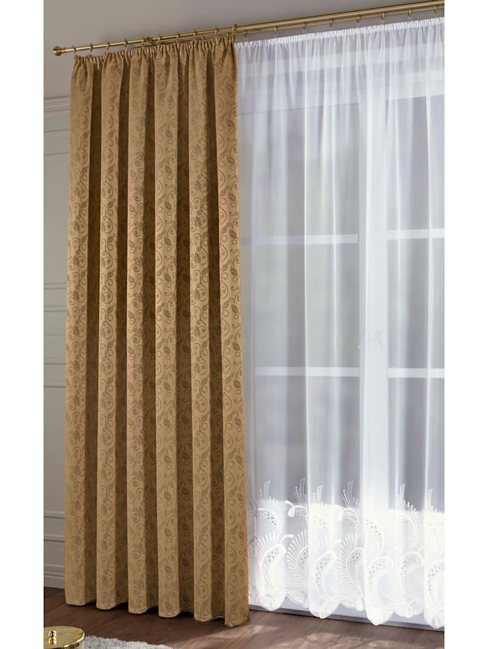 Stickereien & Textilien Gardinserie – Edigna, vit