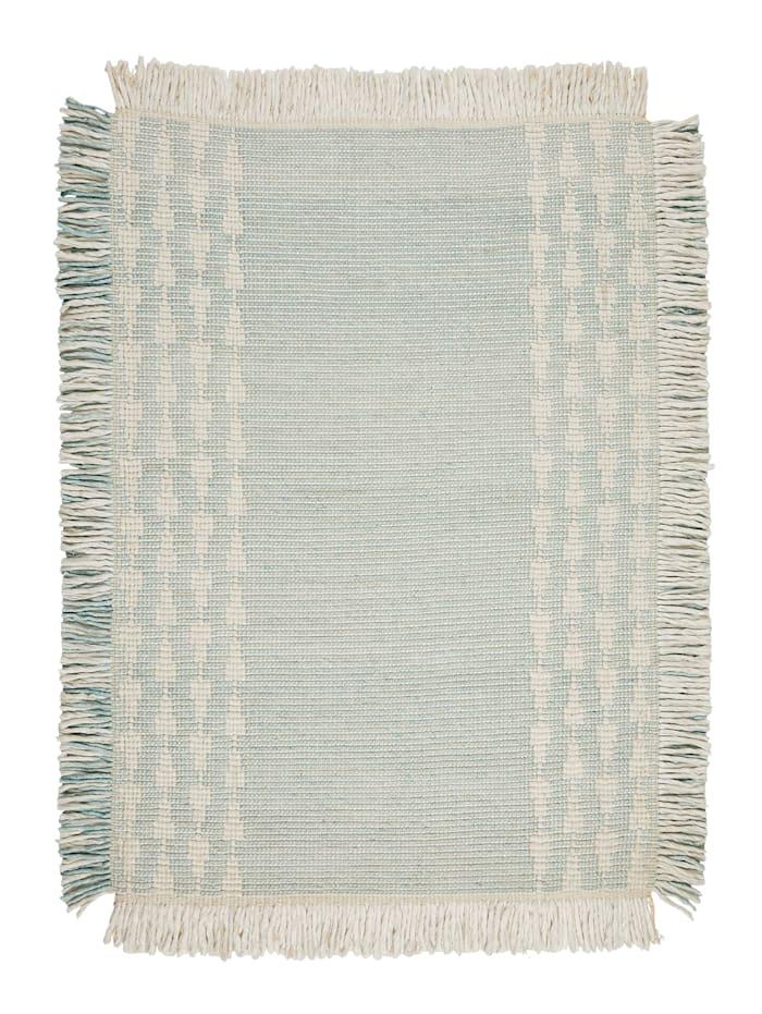 IMPRESSIONEN living Teppich, Hellblau/Weiß