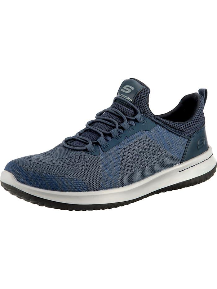 Skechers Delson Brewton Slip-On-Sneaker, blau