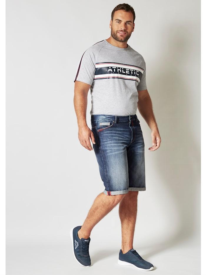 Men Plus T-shirt met raglanmouwen, Lichtgrijs