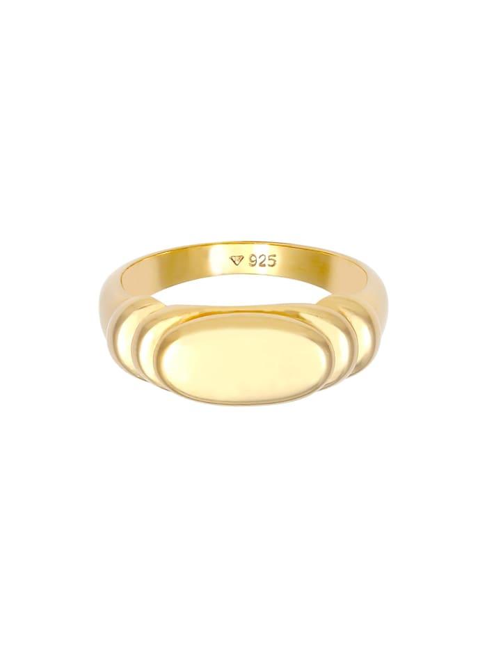 Ring Siegelring Poliert Oval Abgestuft 925 Silber
