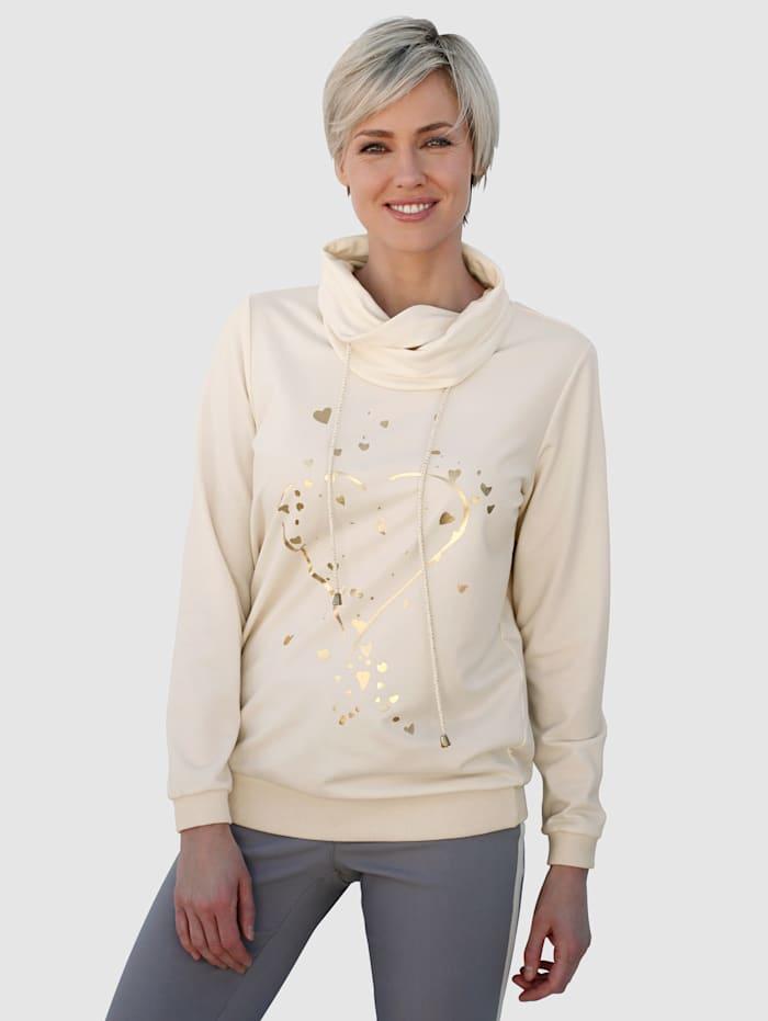 Laura Kent Sweatshirt mit Foliendruck, Natur