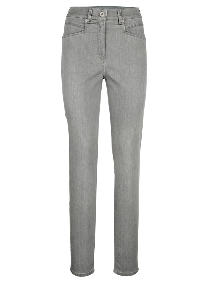 Raphaela by BRAX Jeans in schlanker Silhouette, Hellgrau