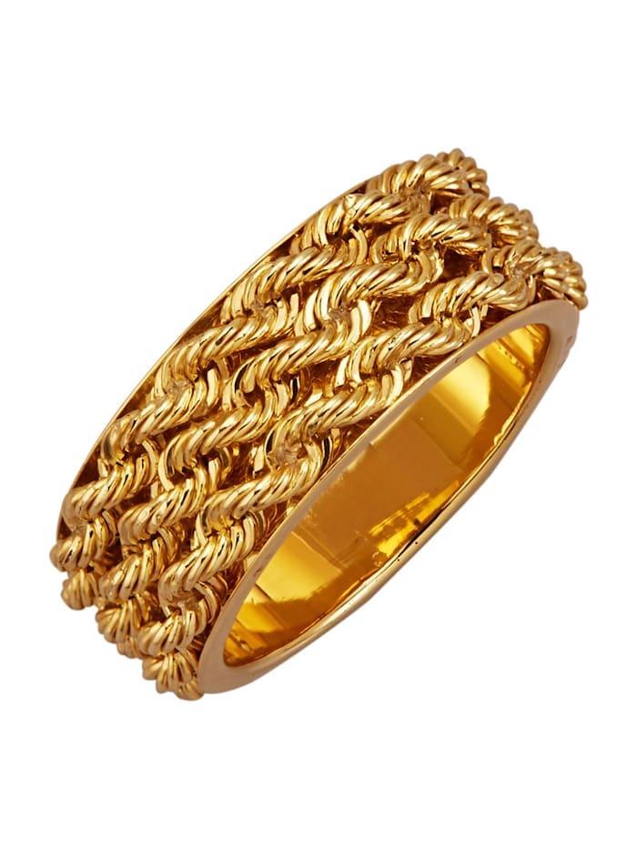Amara Or Bague d'aspect corde, Coloris or jaune