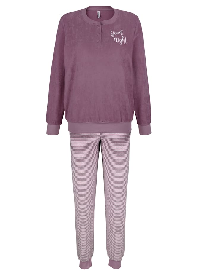 Comtessa Pyjama uit de 'Cotton made in Africa'-collectie, rozenhout/ecru
